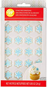 Food Items Icing Decorations Shim SNOWF, us:one Size, Shimmer Snowflakes