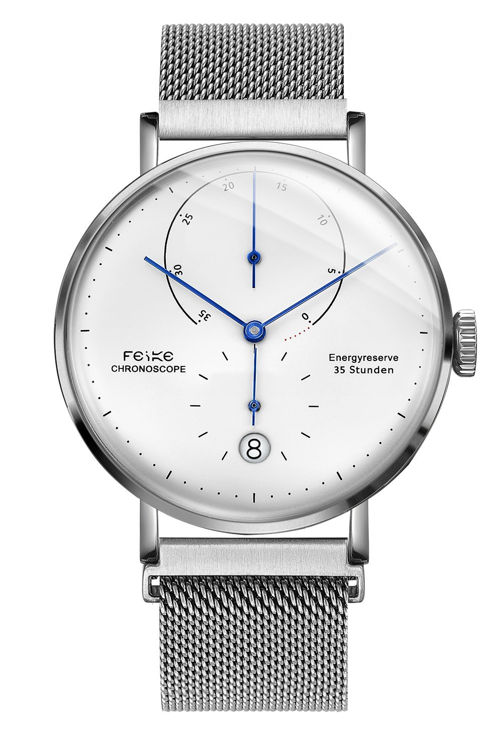 FEICE Men's Automatic Mechanical Stainless Steel Watch with Energy Display #FM202(Silver-2) …
