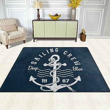 Teppich Maritim amazon de doshine bereich teppiche matte teppich 4 x5 sea