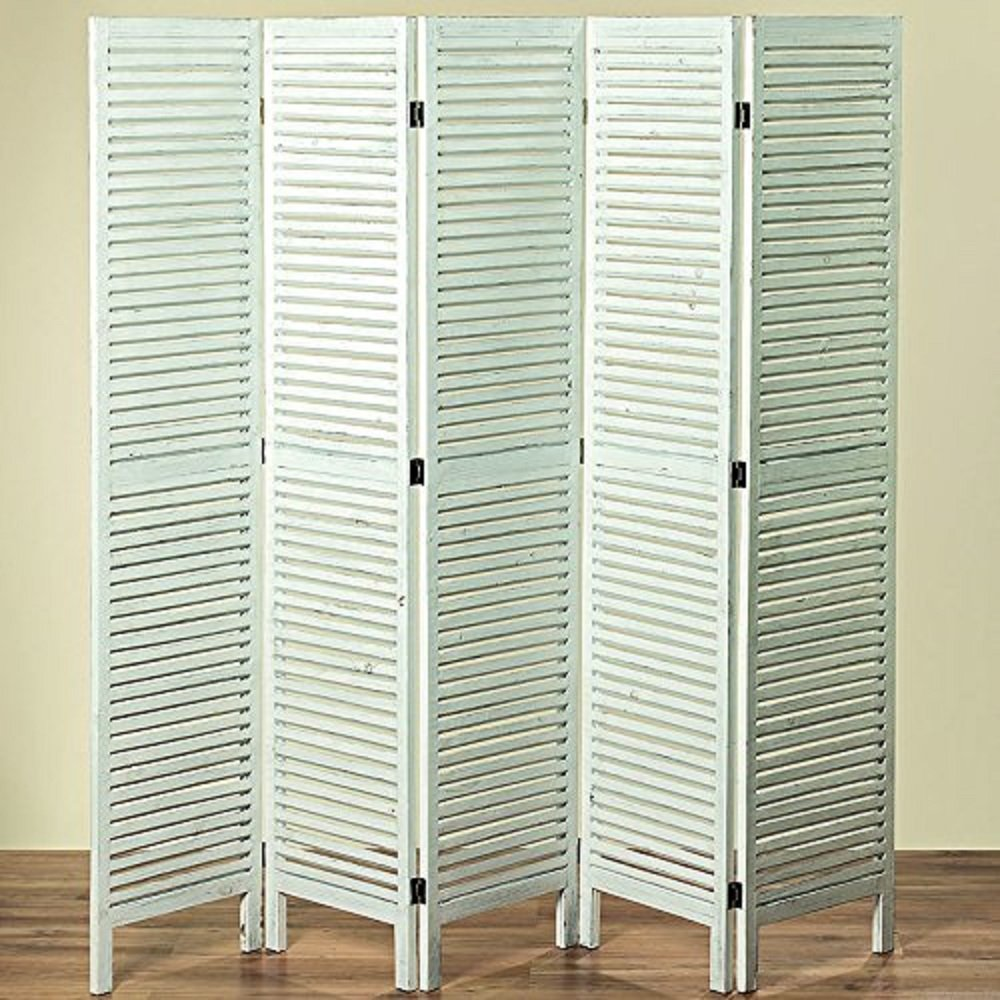 The Hamptons Home 4 Panel Room Divider, Sustainable Wood, Brass Hardware, Approx. 6 Ft Tall, 78 3/4 D x 3/4 W x 70 7/8 H Inches, By Whole House Worlds