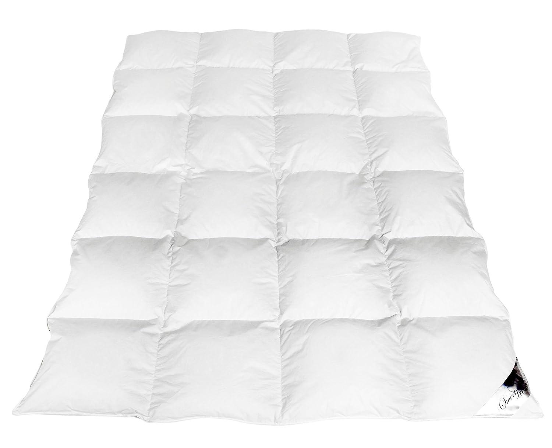 Mayaadi-Home Winterdecke EXTRA Warme angenehme Bettdecke 135x200cm Daunen Decke Kassetten Bett Daunenbett Füllung 1600 gr. 100% Natur