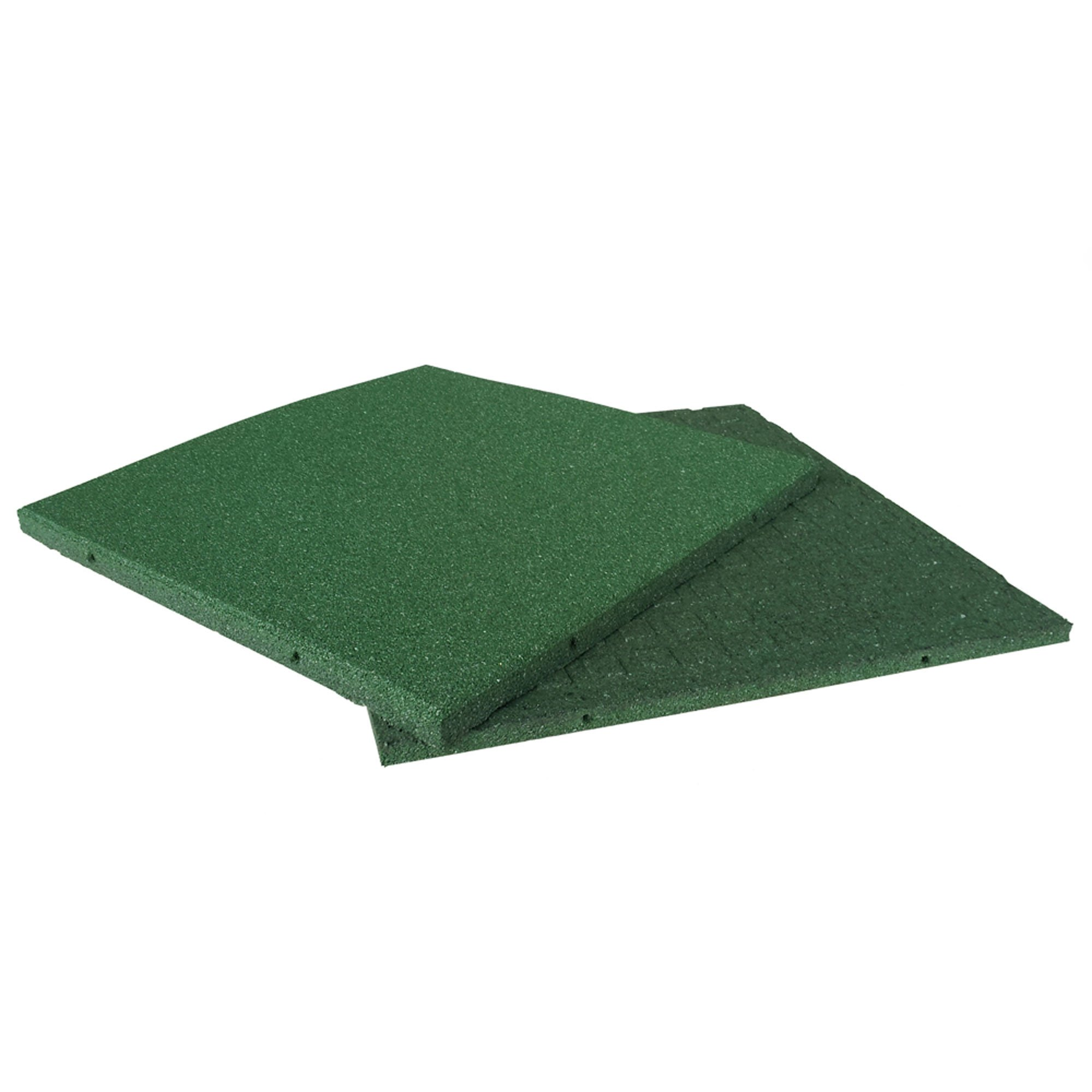 Rubber-Cal Eco-Sport Floor Tile-Pack of 3, Green, 1 x 20 x 20-Inch