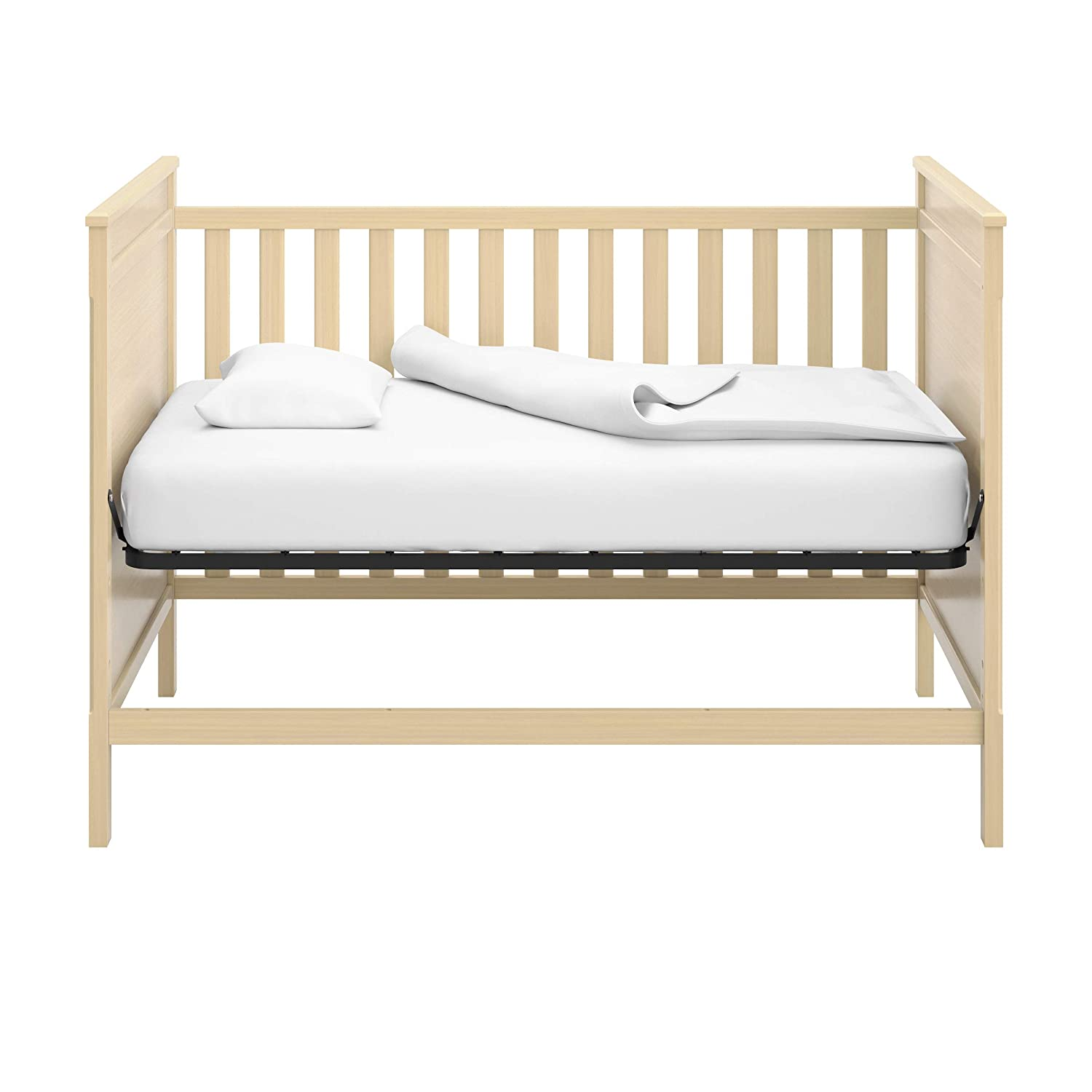 3-Position Adjustable Height Mattress Storkcraft Eastwood 3-in-1 Convertible Crib Easily Converts to Toddler Bed /& Day Bed