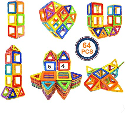 Magnetic Blocks STEM Educational  Building Block Tiles Set for Boys and Girls