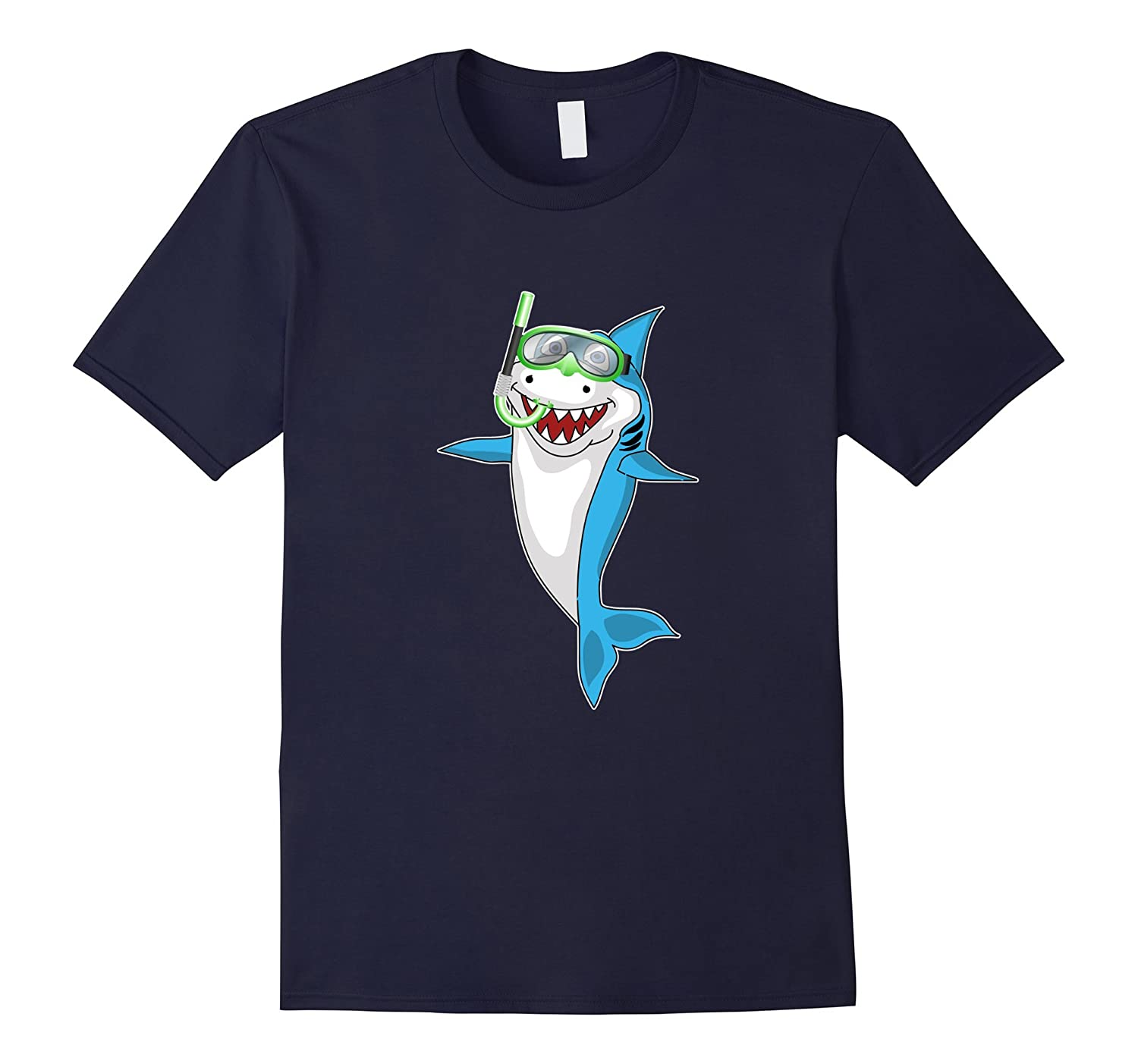 Shark Snorkel Funny T-shirt Sports Hobby Kids Vacations Tees