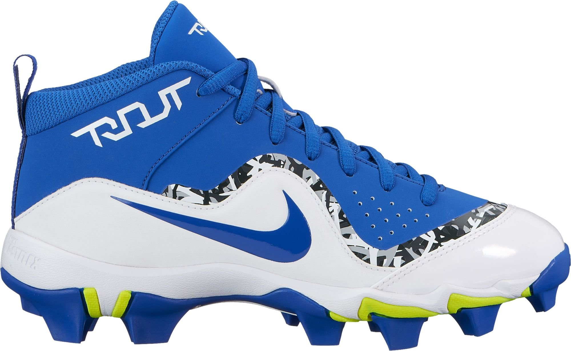 Nike Kids Force Trout 4 Keystone Baseball Cleats (5.5, Blue/White)