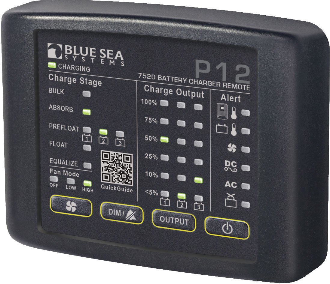 Blue Sea Systems P12 Battery Charger LED Remote by Blue Sea Systems