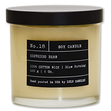 Espresso Bean | Luxury Scented Soy Jar Candle | Hand Poured in The USA | Highly Scented & Long Lasting |Small - 6 Oz.