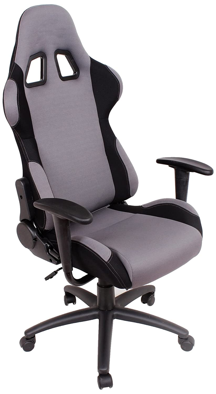amazoncom ez lounge racing car seat office jeep gaming chair grayblack kitchen dining car seats office chairs