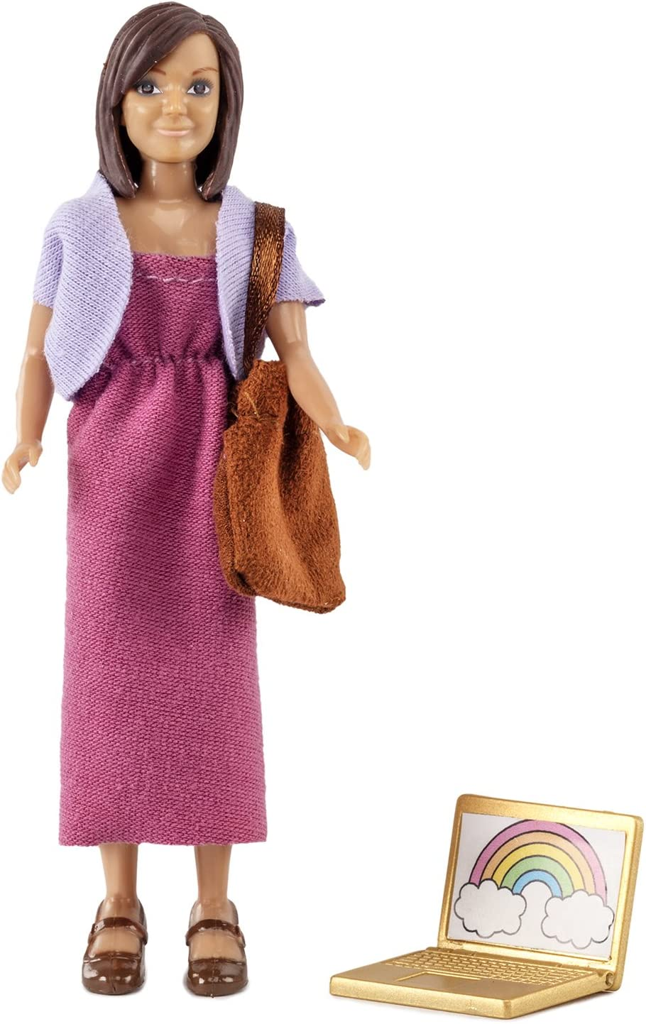 Melody Jane Dollhouse Lundby Modern Mum Mother with Laptop & Bag