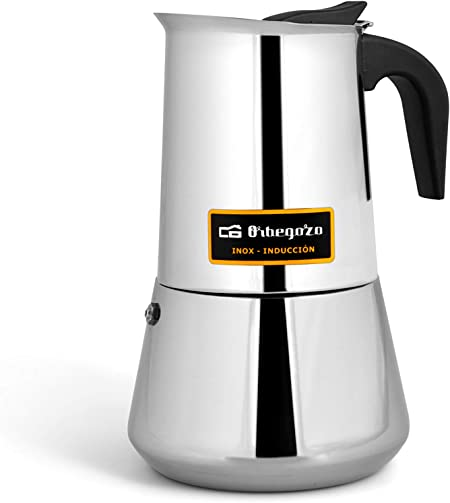 Cafetera italiana inox ORBEGOZO KFI460 | ORBEGOZO 4 tazas Induccion Vitro Gas Electrico: Amazon.es: Hogar