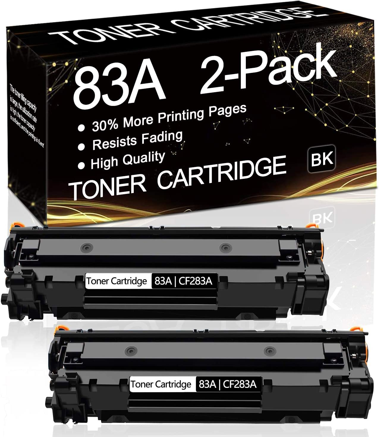 2-Pack (Black) 83A | CF283A Compatible Toner Cartridge Replacement for HP Laserjet Pro M201n M201dw MFP M225dn M225dw M125a M125nw M126a M126nw Printer,Sold by SinaToner.