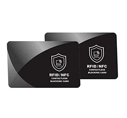 bd1ec6ec3359 2 x RFID Blocking Card | NFC Contactless Cards Protection | Protect Your  Entire Wallet | No More Need for Single Sleeves | for Men or Women, Credit  ...