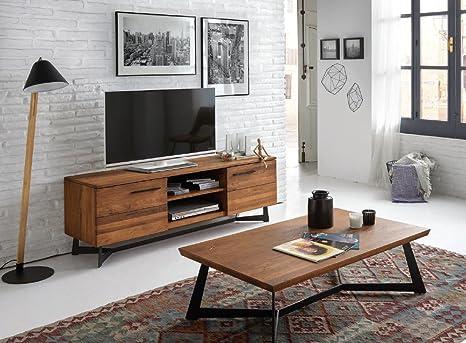 Dugarhome Muebles de TV Estilo Industrial - Mueble OREGON ...