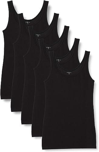 Marca Amazon - Iris & Lilly Camiseta de Tirantes de Algodón Mujer, Pack de 5: Amazon.es: Ropa y accesorios
