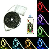 Battery Powered LED Strip Lights, 17-Keys Remote Controlled, DIY Indoor and Outdoor Decoration, 6.56ft Waterproof