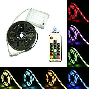 Amazon battery powered led strip lights 17 keys remote battery powered led strip lights 17 keys remote controlled diy indoor and outdoor aloadofball Images