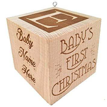 Amazon.com: Baby's First Christmas Ornament 2017 Personalized Baby ...