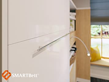 SMARTBett Armario Cama 90 x 200 Horizontal Color Wengué/Blanco Frontal – Armario Plegable & Pared Cama: Amazon.es: Hogar