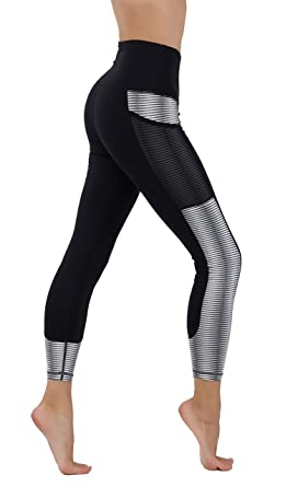 CodeFit Yoga Power Flex Dry Fit Tummy Control High Waist Printed Compression Workout Leggings S