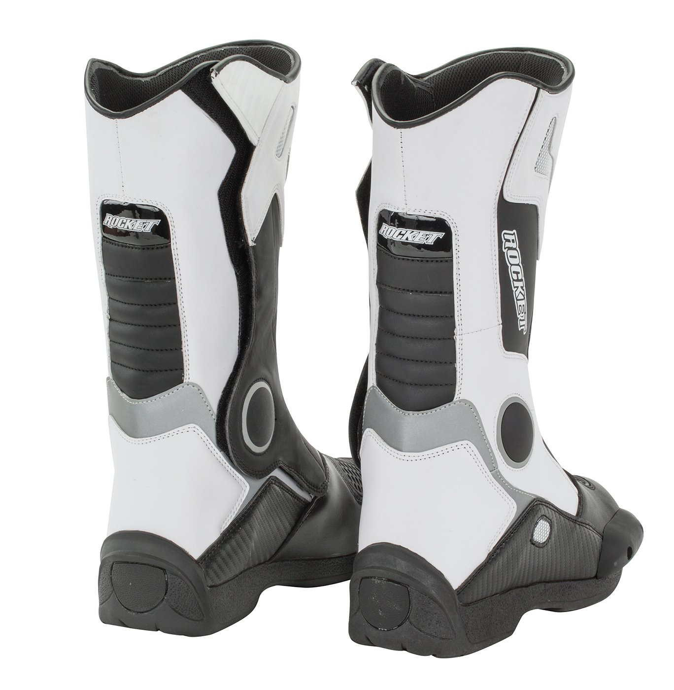 Joe Rocket Mens Water Resistant Touring Boot White, US Size 10