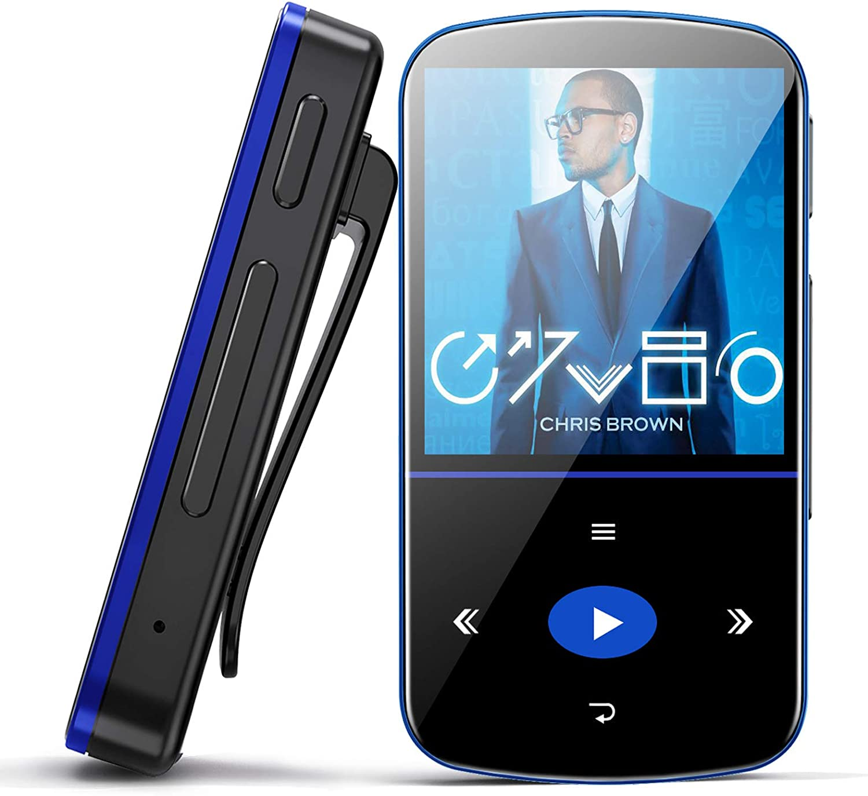 Mini Reproductor MP3 de 32 GB, con Bluetooth, Reproductor de Música Portátil con Clip, Podómetro Deportivo, Radio FM, Grabadora de Voz, Ranura Micro ...