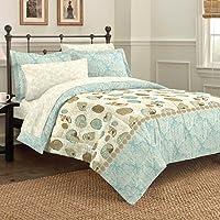 Discoveries Sea Breeze Seashell Bedding Comforter Set, Blue