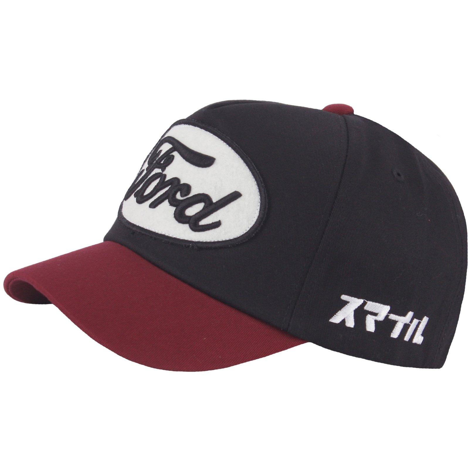 RaOn B318 Pre-curved Cool Short Bill Design Club Cute Ball Cap Baseball Hat Truckers (Wine)
