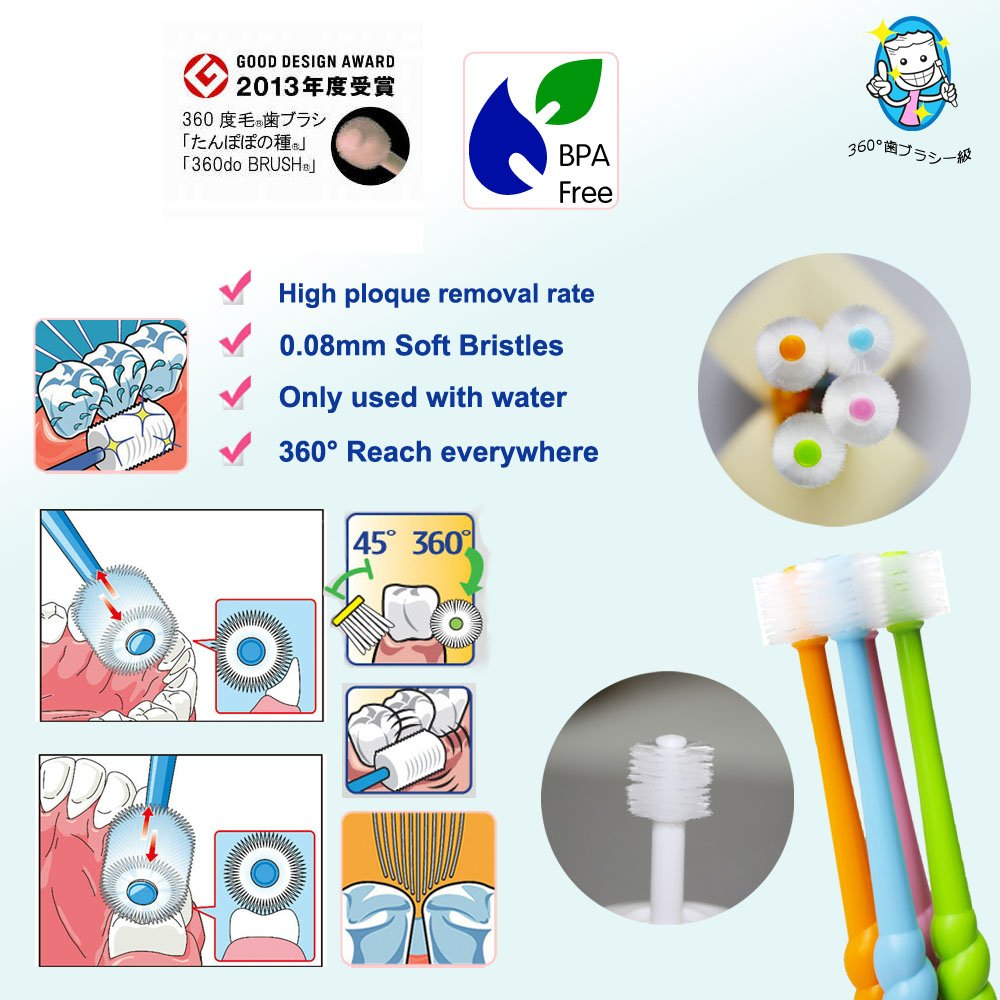 Stb 360do Brush 360 Baby Toothbrush Step 1 6 36 Tooth For White Month Microfiber Bristles