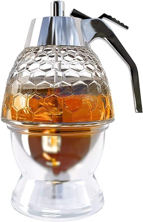 Honey Dispenser With Stand Plastic Honey Dispenser Modern Honey Syrup Dispenser No Drip Honey Dispenser 8