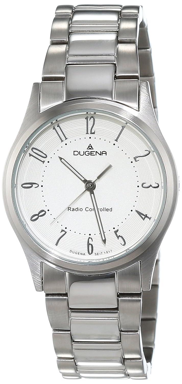 Dugena Damen-Armbanduhr Funkuhren Analog Quarz Edelstahl 4460638