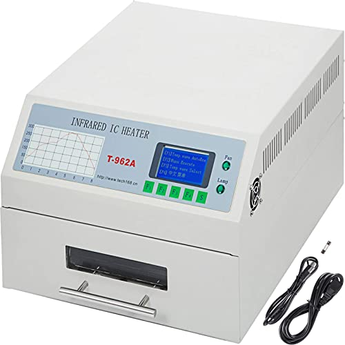 Happybuy Reflow Oven T962A 110V Reflow Soldering Machine 1500W 300 x 320 mm Professional Infrared Heater Soldering Machine Automatic Reflow Machine T962A 110V