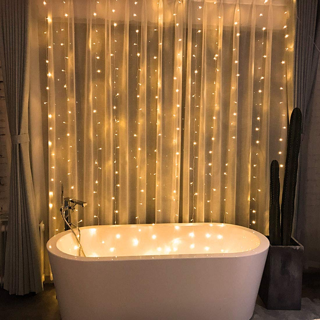 Ever Smart String Lights Led Curtain Lights Twinkle String White Lights 8 Modes New Version Fairy