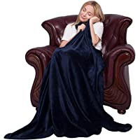 Softan Flannel Fleece Blanket Luxury Solid Velvet for Bed Couch Sofa