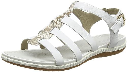 Zapatos blancos de punta abierta Geox para mujer bL1u8