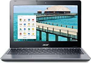 "Acer C720-2844 11.6"" Google Chromebook Laptop Intel Celeron 2955U Dual Core 1.4GHz 4GB RAM 16GB SSD - Gray"