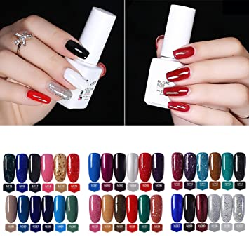 Amazon.com : ink2055 6ML Women Nail Art Polish, Soak Off Long Lasting Solid Color Nail Polish UV Gel Phototherapy Nail Art Decor - 85# : Beauty