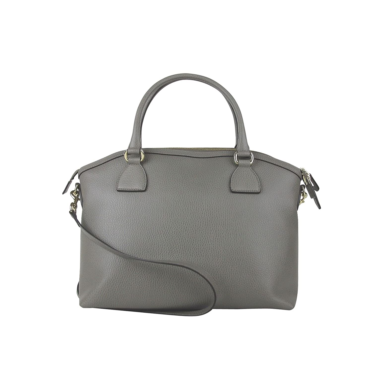 5ebf49aa1 Amazon.com: Gucci GG Charm Grey Leather Large Convertible Dome Bag With  Detachabel Strap 449660 1226: Shoes