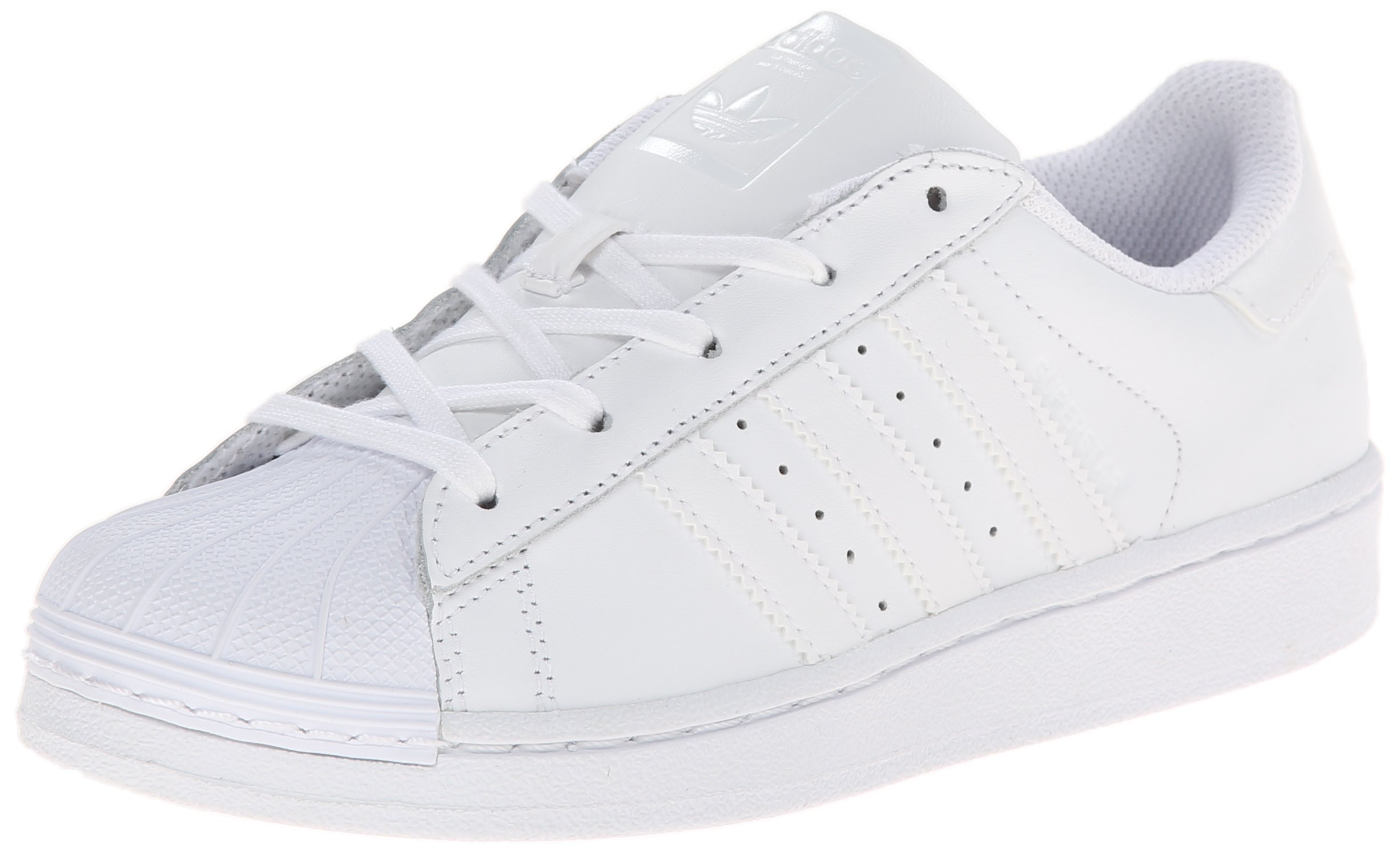 adidas Originals Kids' Superstr Foundation, White/White/White, 3 M US Little Kid