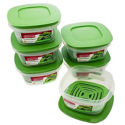 Amazoncom Rubbermaid Produce Saver Square 5 Cup Food Storage