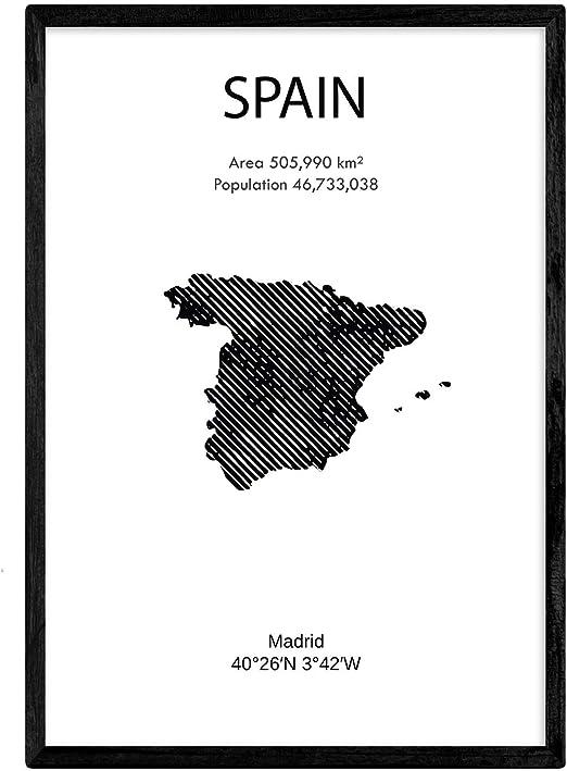 Nacnic Poster de España. Láminas de Paises y continentes del Mundo ...