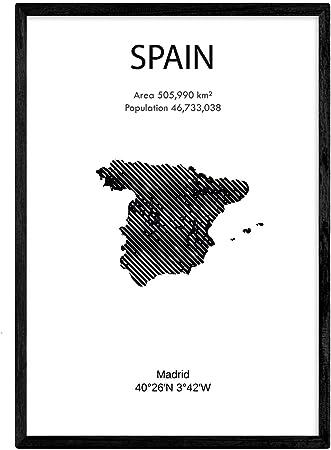 Nacnic Poster de España. Láminas de Paises y continentes del Mundo. Tamaño A3: Amazon.es: Hogar