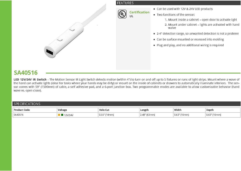 Transolid SA40516 Sensio HD LED 12V//24V IR Switch Trumbull Industries