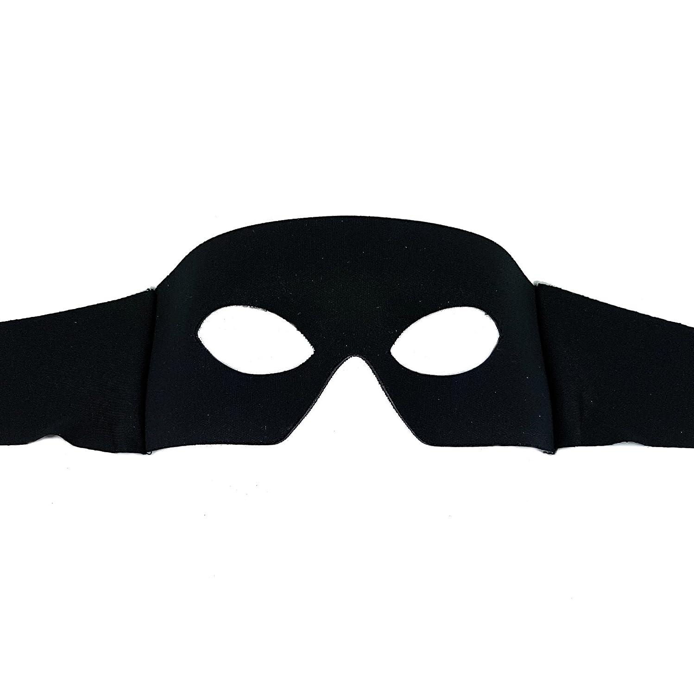 Samantha Peach Antifaz Zorro Negro - Mascara Veneciana para los Hombres - Superior Calidad Italiana Hecho