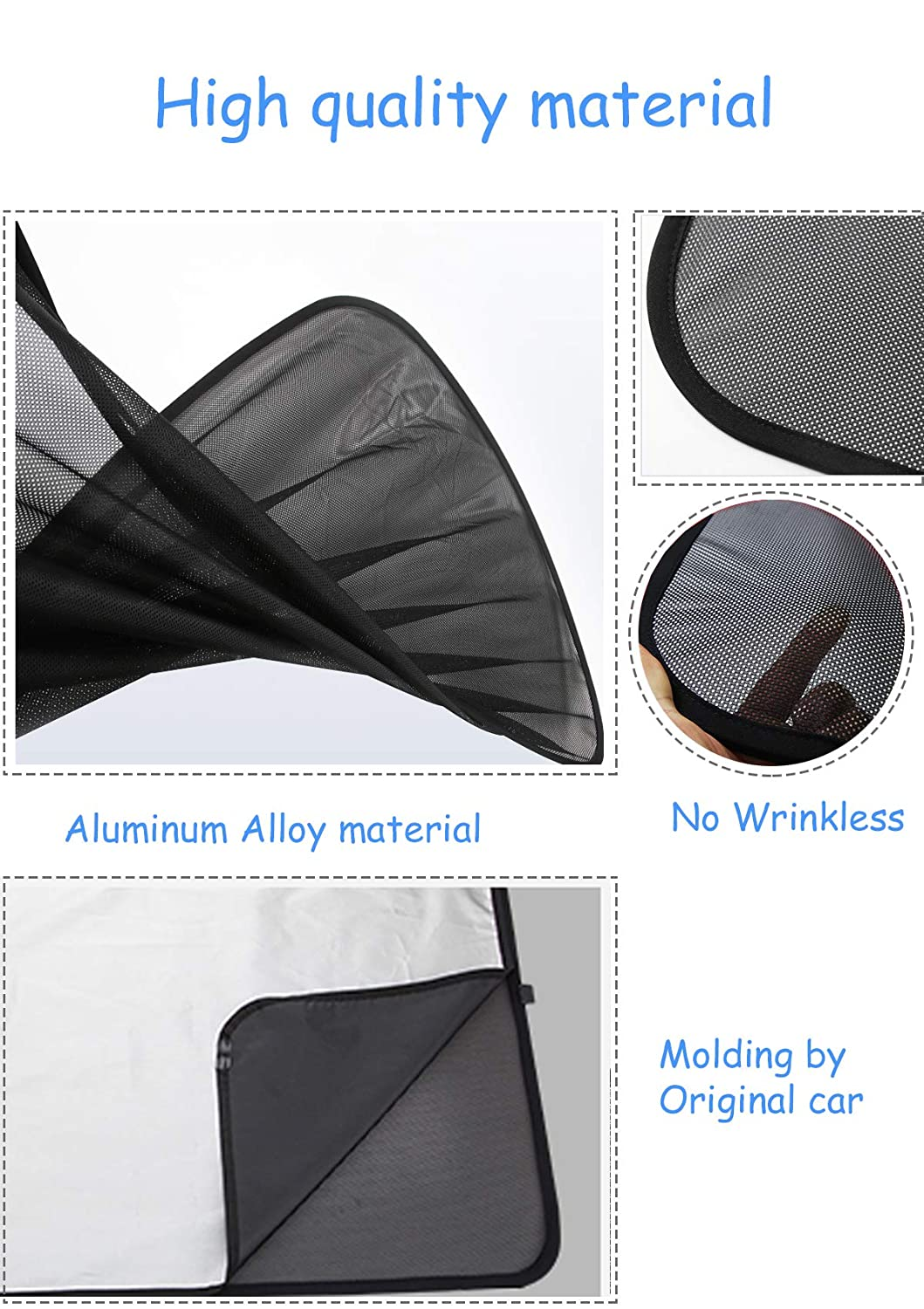 Moonlinks Tesla Model 3 The Mesh Sunshade+UV//Heat Insulation Film Compatible with 2017 2018 2019 Tesla Model 3 Glass Roof Sunshade for car Windshield(4 Pieces) Tesla Model 3 Roof Sunshade Sunroof