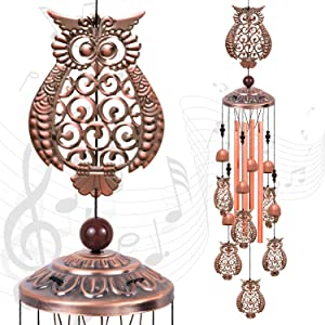 Solawindchime Owl Wind Chimes Outdoor, Owl Memorial Wind Chime, Owl Gift Wind Chimes, Owl Wind Bell, Owl Gifts for Women, Wind Chime for Home, Garden, Indoor, Outdoor Decoration, Garden Owl Wind Chime