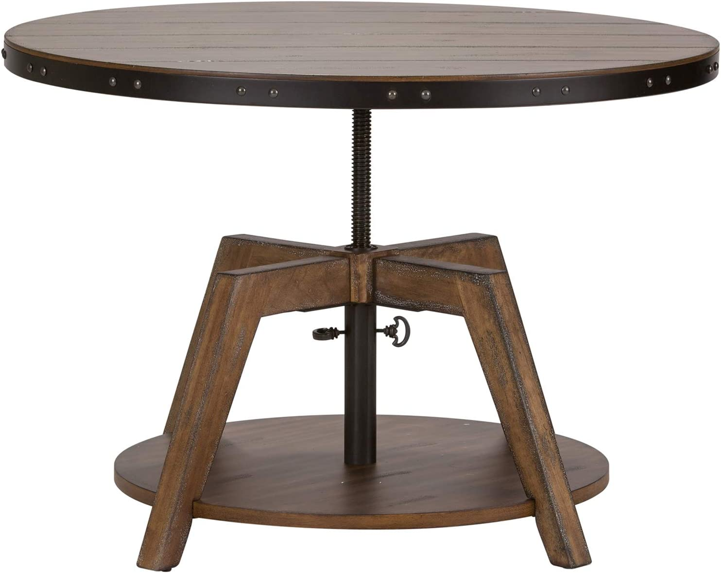 Liberty Furniture Industries Aspen Skies Occasional Motion Cocktail Table, W34 x D34 x H21, Light Brown