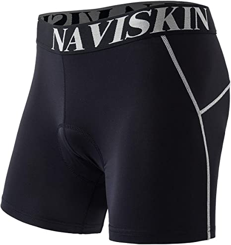 Mens Casual Bicycle Bike Cycling Underwear Slim Quick Dry Black Shorts Pants US