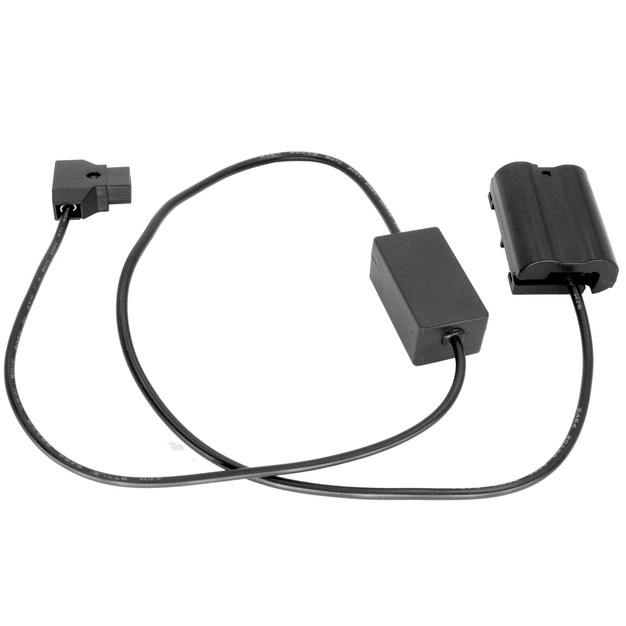 GyroVu D-TAP to NIKON EN-EL15 Dummy Battery (EP-5B) 30' Streight Intelligent Adapter Cable Compatible with Nikon 520, P530, D600, D610, D750, D7000, D7100, D800, D800E, D810, D800A, 1V1 Cameras