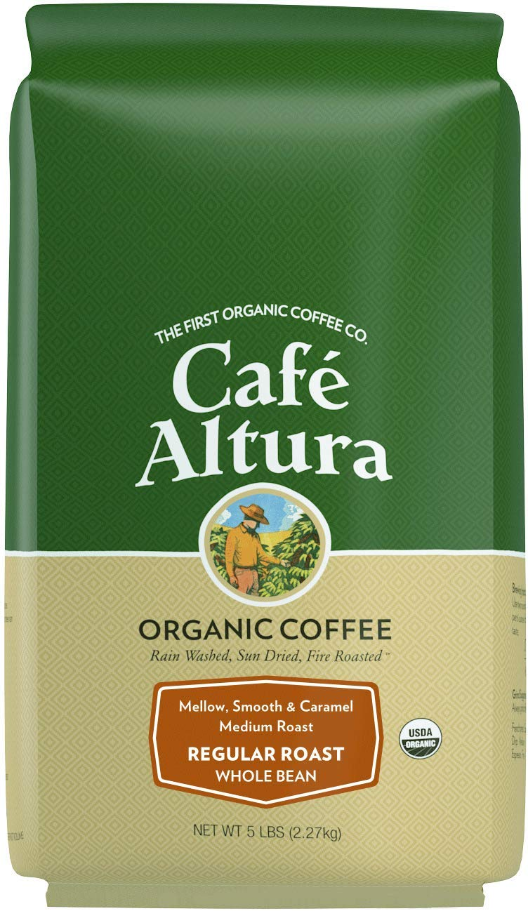 Cafe Altura Whole Bean Organic Coffee, Regular Roast (Packaging May Vary) by Cafe Altura